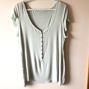 American Eagle soft and sexy tee mint color sz L